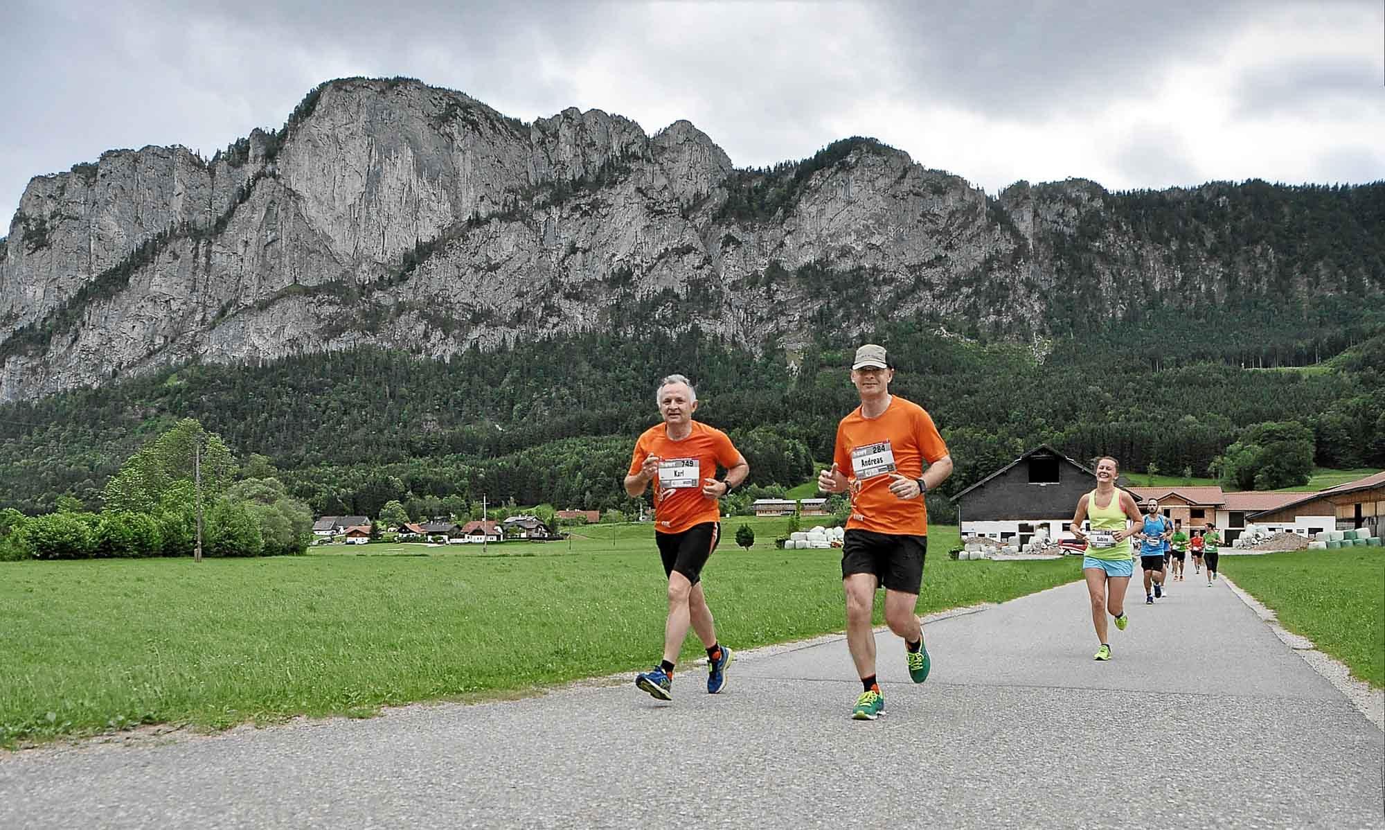 mit meinem Bruder Karl beim Lauf vor der Drachenwand, am 4. Juni